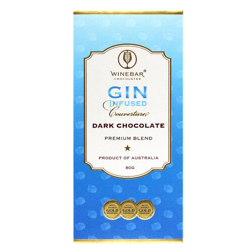 Gin infused dark chocolate - single bar